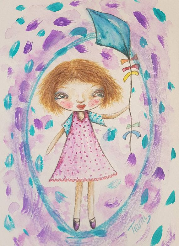 Check out this item in my Etsy shop https://www.etsy.com/au/listing/524699096/whimsical-girl-mixed-media-painting