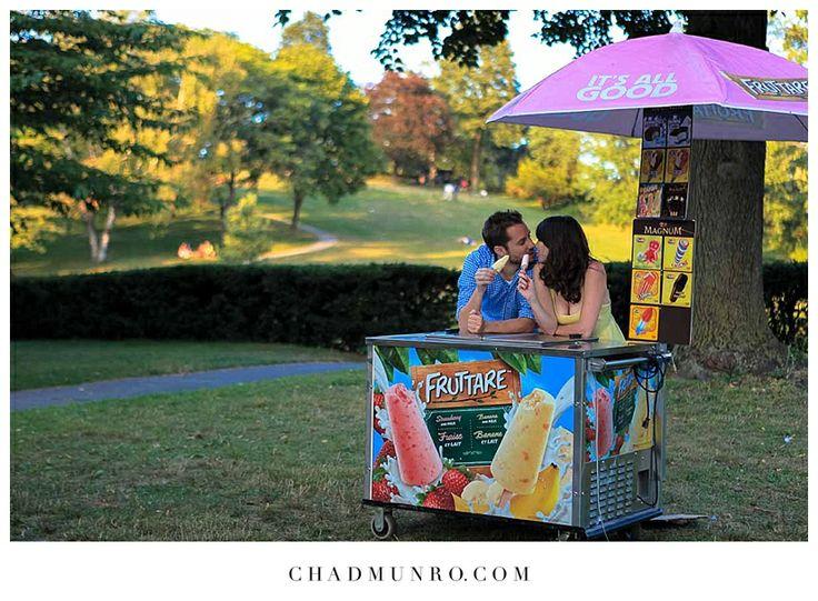 Ice Cream Stand High Park Engagement
