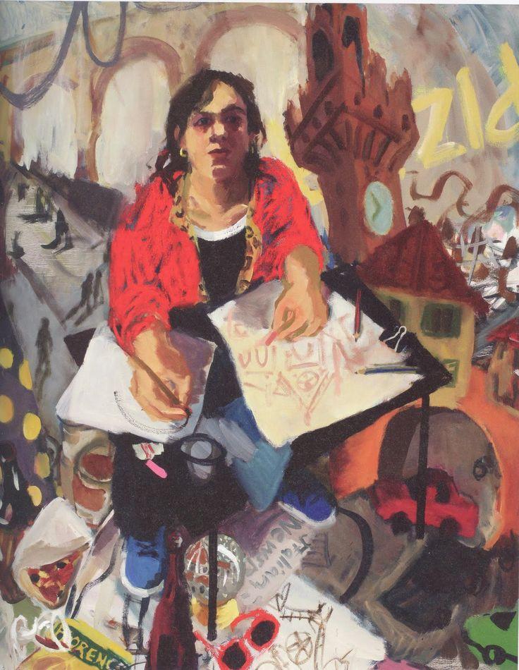Self Portrait in Florence (2009). Wendy Sharpe.S.H Ervin Gallery.…