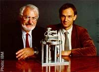 Rohrer and Binnig - Nobel Prize winners for The Scanning Tunneling Microscope