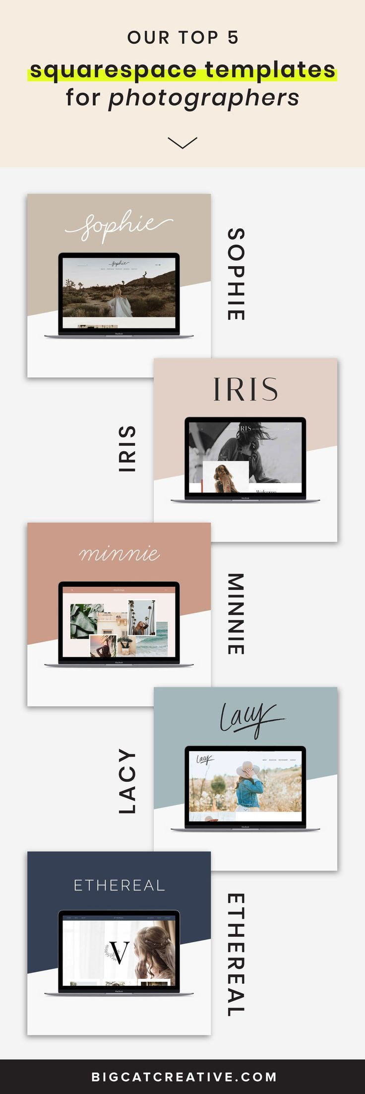 Our 5 Best Squarespace Templates For Photographers Big Cat Creative Squarespace Templates Squarespace Templates Best Squarespace Template Small Business Web Design