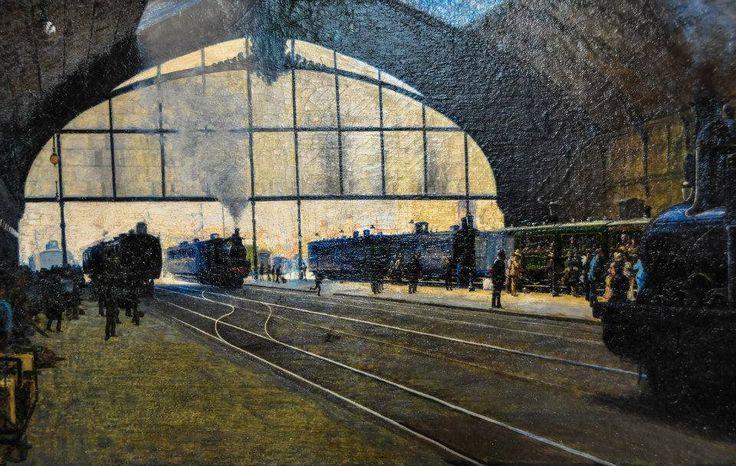 Angelo Morbelli La Stazione Centrale di Milano (1889).
