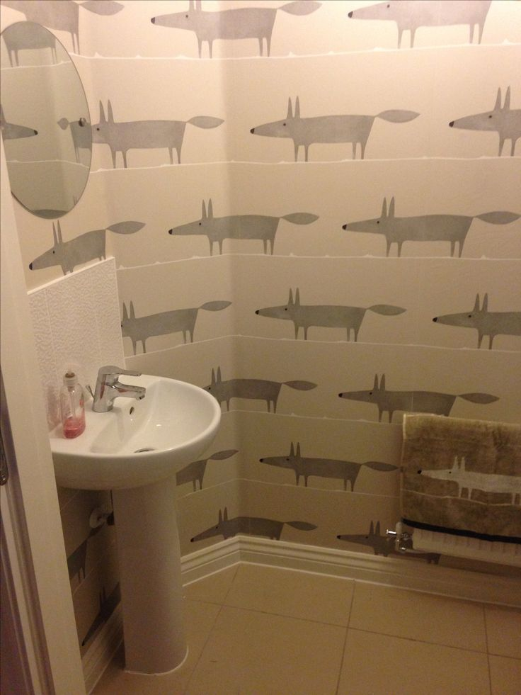 Our newly decorated downstairs toilet. Mr Fox wallpaper by Scion. I have a new favourite room!!!!