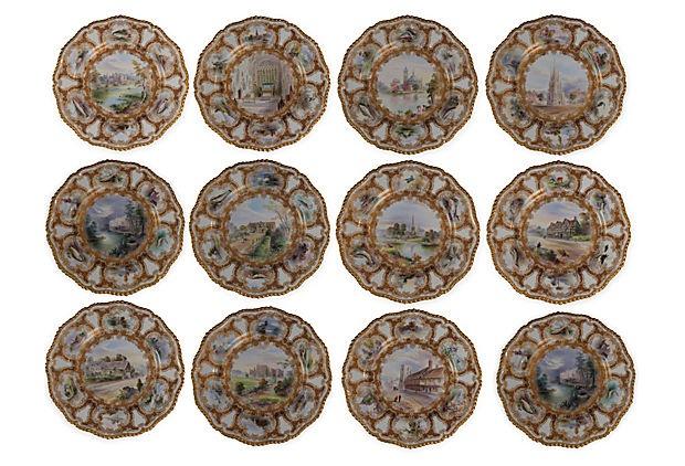 Royal Worcester Plates, Set of 12 on OneKingsLane.com
