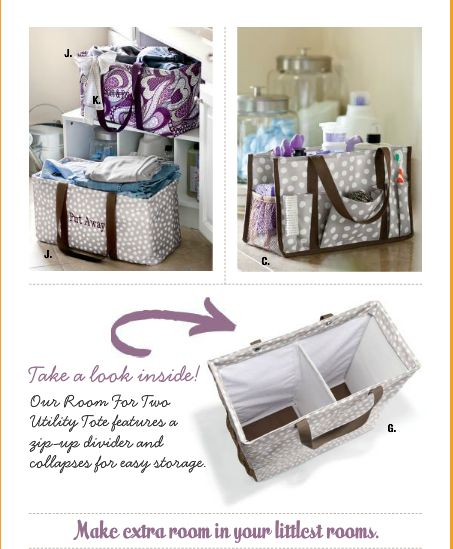 NEW for 2013! Thirty-One's ROOM FOR TWO TOTE!    As seen on the new 2013 Spring Catalog Cover