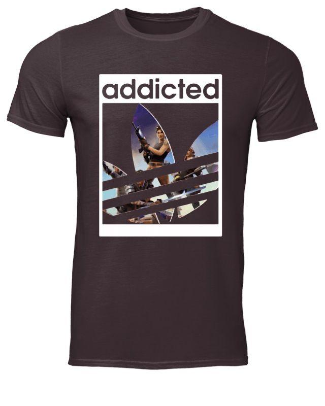 Fortnite battle royale x adidas logo addicted shirt