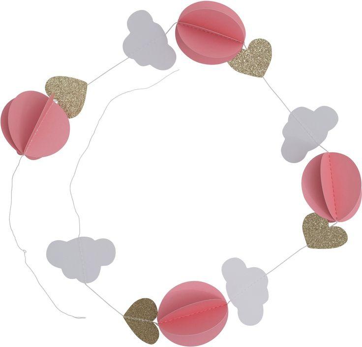 A Little Lovely Company Girlande Wolken Pink - Kleine Fabriek