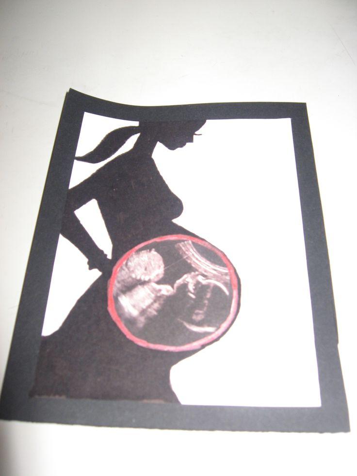 Biglietto di auguri per una futura mamma #biglietto #card #scrapbooking #premaman #gravidanza #auguri