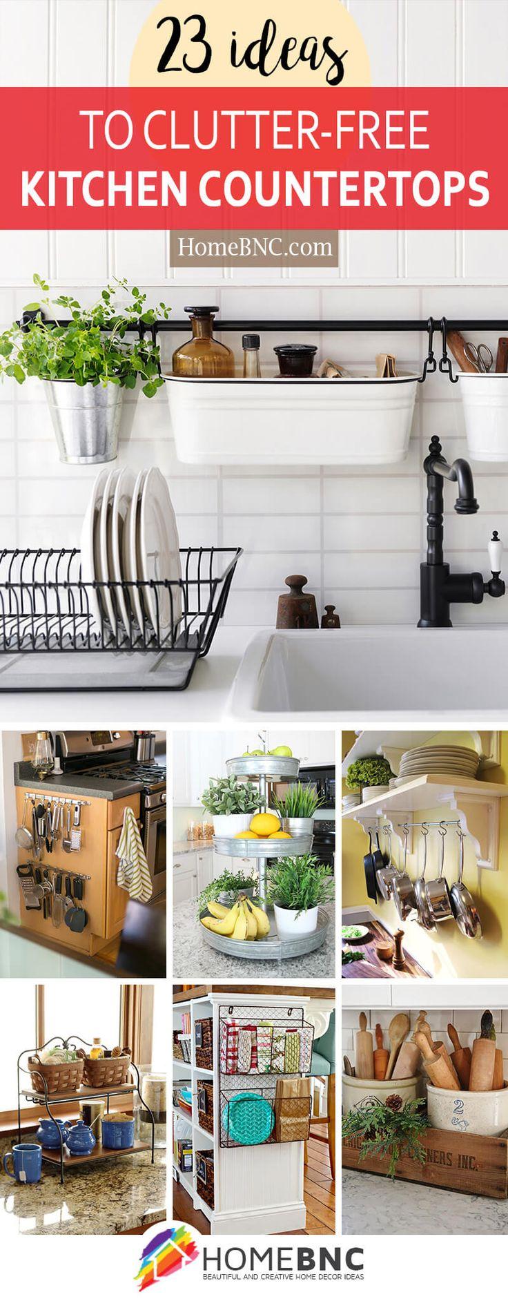 Clutter-Free Kitchen Countertop Decor Ideas