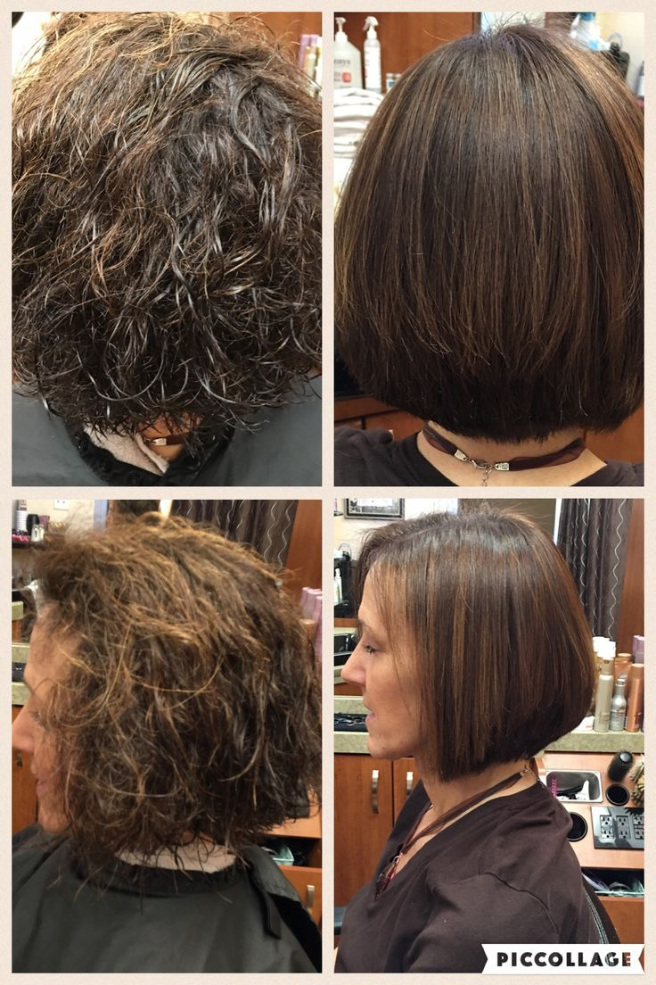 Straight perm groupon - Before And After Japanese Straightening Permanentstriaght Salontrendz 708 671 1333