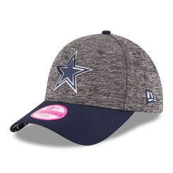 Women's Dallas Cowboys New Era Heathered Gray/Navy 2016 NFL Draft 9FORTY Adjustable Hat