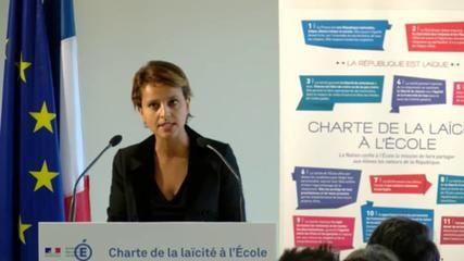 Charte de la laïcité à l'École : discours de Najat Vallaud-Belkacem