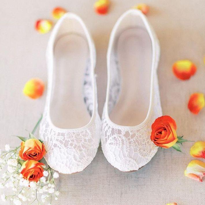 Crochet Ballet Flats Style Clynn31 White 10w Davids Bridal