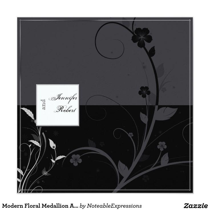 Modern Floral Medallion Anniversary Card 144 best
