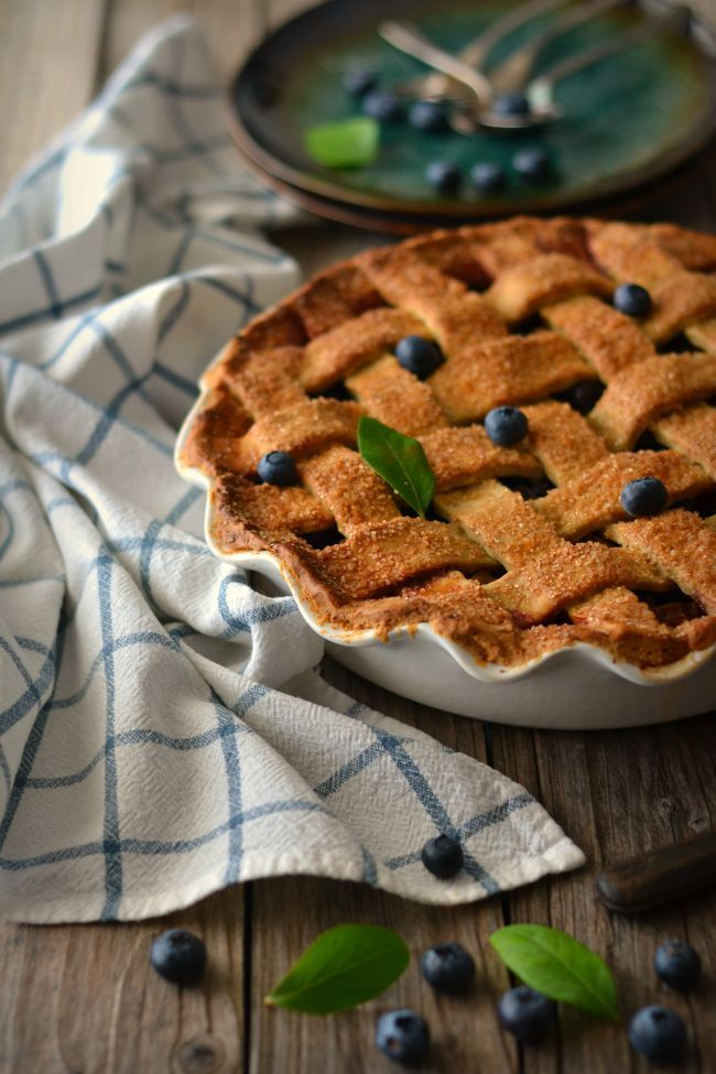 Blueberry Rhubarb Pie