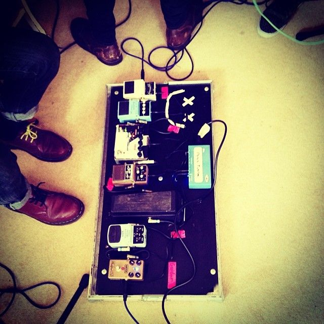 A smiley face on @watpmusic pedals in our studio. #studio #watp #willandthepeople #pedals #effects #guitar #feet #guy #shoes #cute #handsome...