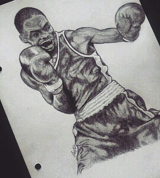 Elie Konki | French boxer #boxing #drawing #art ( by diiakass ) https://www.instagram.com/diiakass/
