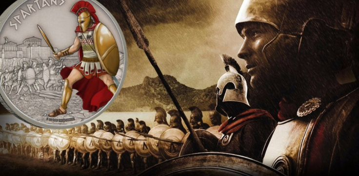 Spartans Conquer Warriors Of History Silver Coin Series