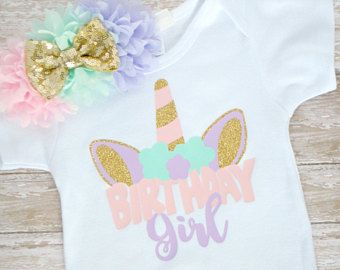 Unicornio, camisa - unicornio cumpleaños traje - unicornio niña de cumpleaños - cumpleaños niña - unicornio camiseta - cumpleaños unicornio - unicornio cumpleaños