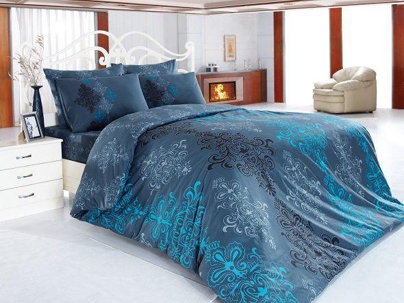 Lenjeria de pat Ranforce Aura Dark Blue este gata sa aduca profunzimea oceanului in dormitorul dumneavoastra. Mai multe modele pe www.somproduct.ro #InspiringComfort #oceanblue #mermaid #cotton