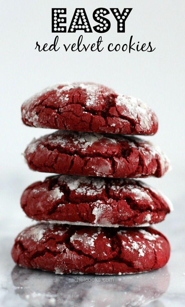 Easiest Ever Red Velvet Cookies on RachelCooks.com