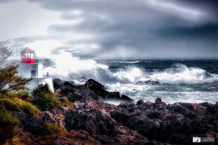 ***The Amphitrite Lighthouse (Ucluelet, Vancouver Island, B.C.) by Mike Thompson Island Landscapes