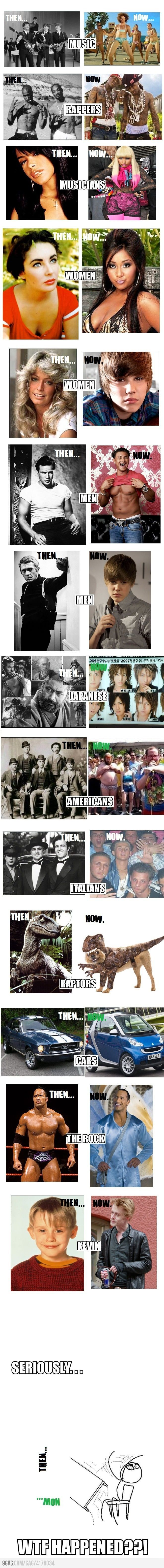 Then Vs Now, Click the link to view todays funniest pictures!