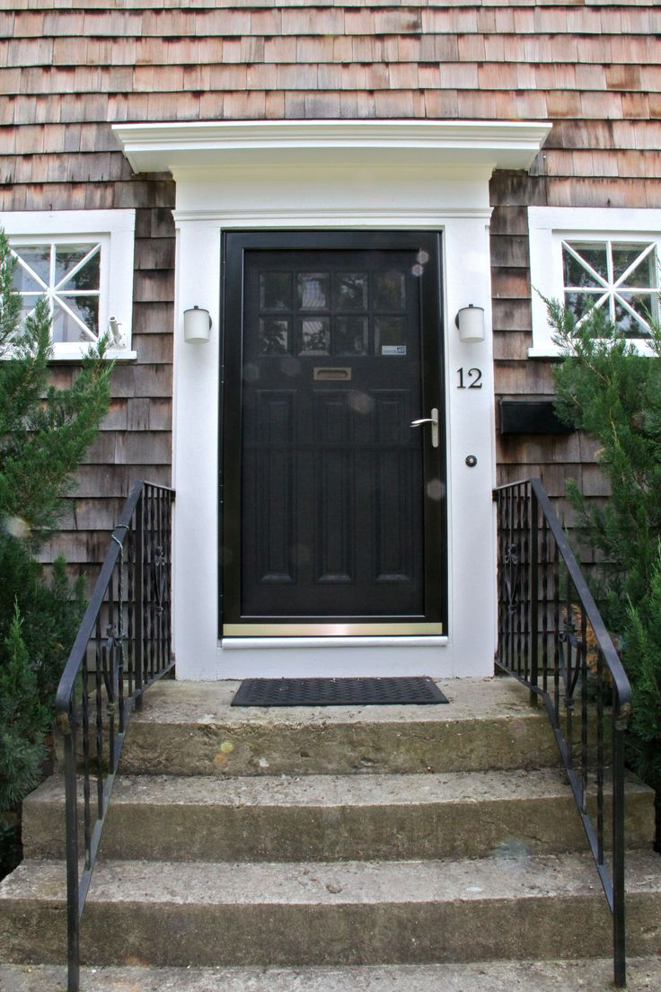 120 best exterior paint images on pinterest storm doors for Front door with storm door
