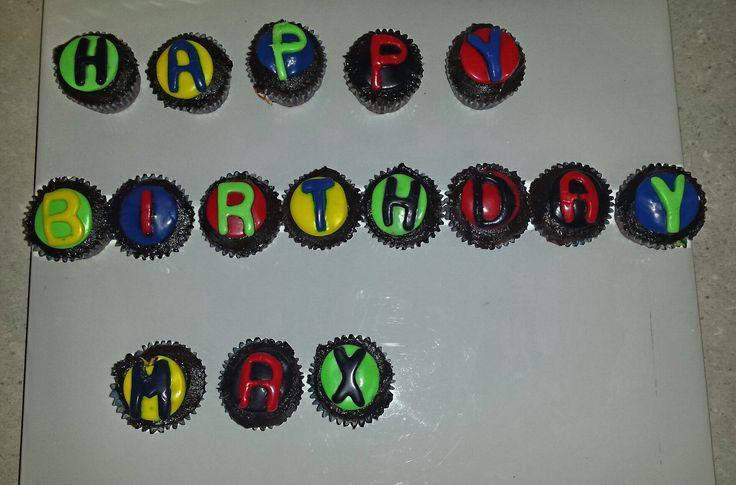 Boys 3rd birthday cupcakes