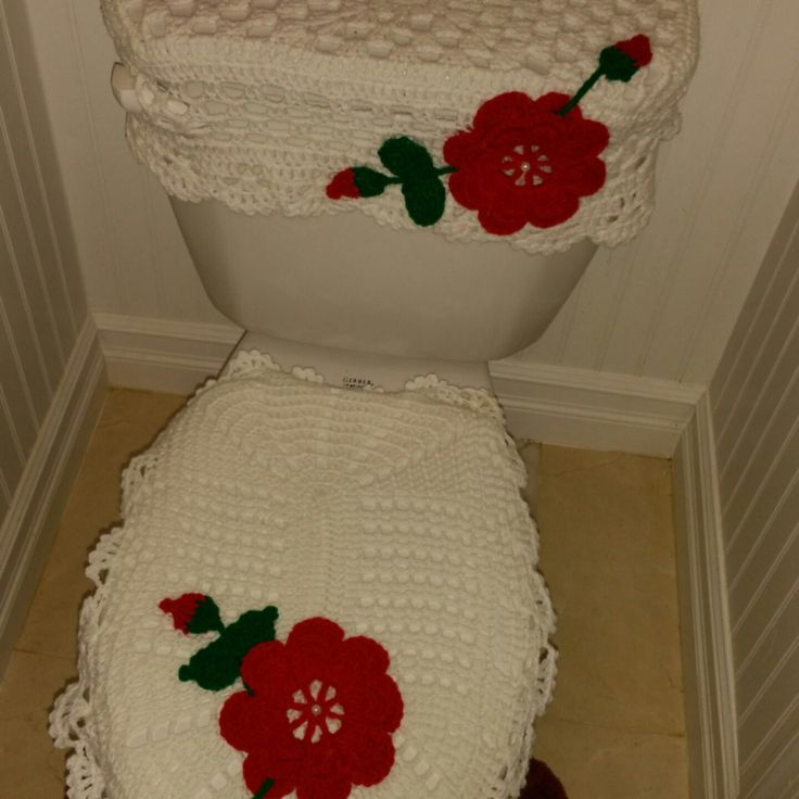 Set De Baño Tejido A Mano:Crochet Bathroom Sets Ideas