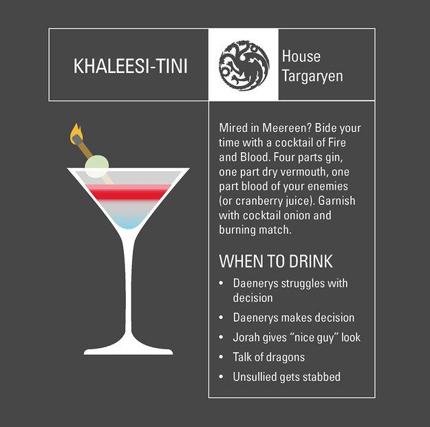"""House Targaryen:   6 Perfect Cocktails To Enjoy During Tonight's """"Game Of Thrones"""" Finale"""