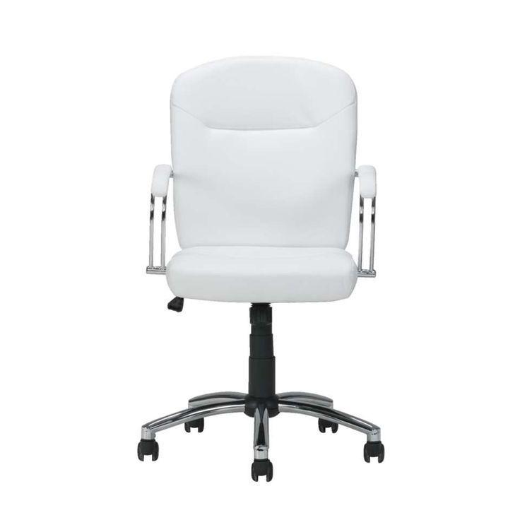 Chaise De Bureau Blanche In 2020 Interior Office Chair Chair