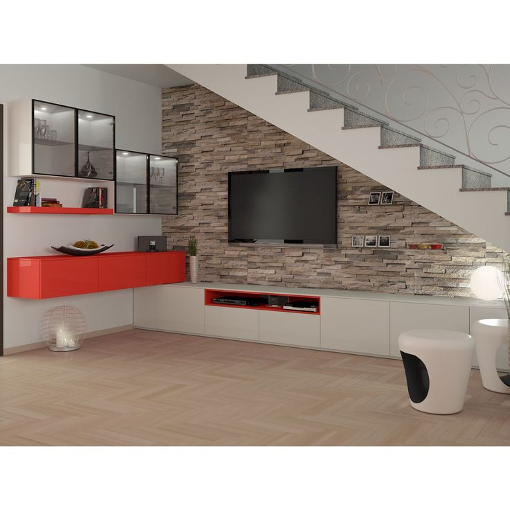 Arredare il sottoscala aperto del soggiorno 17762 for Arredamento moderno salotto
