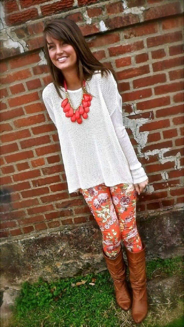 baafaa127d9091 Top 10 Ways to Wear Leggings | fallish clothes | Fashion, Floral pants,  Style