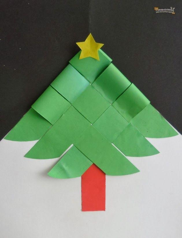 Kreatív gyűjteményem: Karácsonyfa papírból