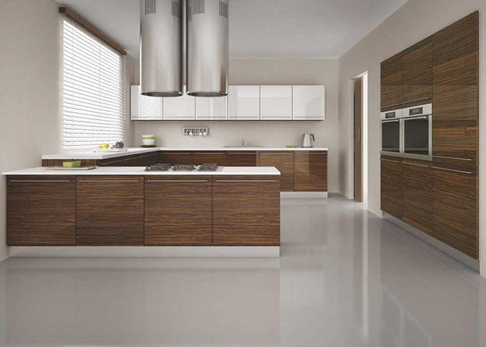 Acrylic kapak 321 koyu zebrano mutfak mutfakmodelleri for Kitchen ideas zebrano