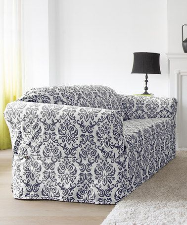 This Indigo Chelsea Non-Stretch Wrap Slipcover is perfect! #zulilyfinds