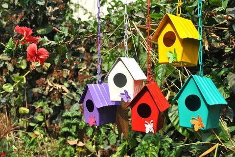 Metal Birdhouse with Butterfly Motif – The mysunnybalcony e-store