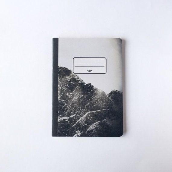 Black Mountain Notebook - Blank pages - Lined pages