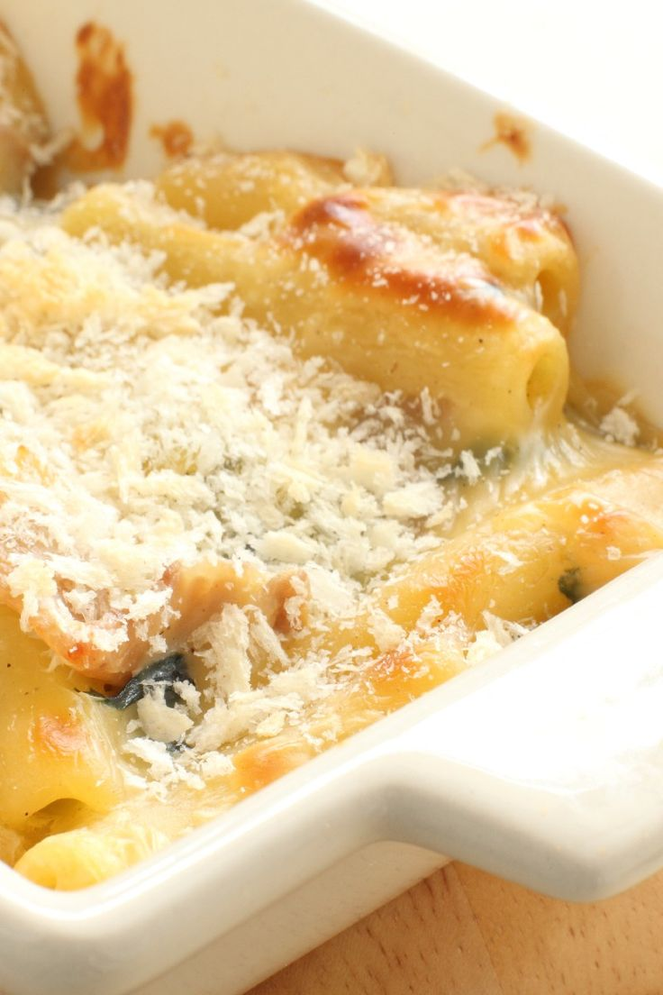 Cheesy Baked #Pasta With Spinach and Artichokes #Recipe