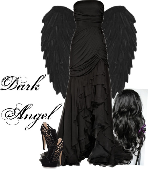 """""""Halloween - Dark Angel"""" by lily1996x ❤ liked on Polyvore"""