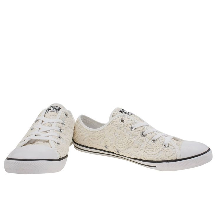 womens converse stone all star dainty crochet ox trainers