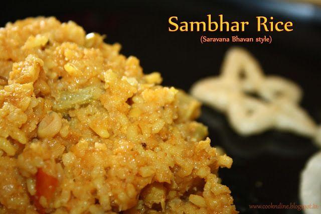 Sambhar Sadham/Rice made in Hotel saravana Bhavan Style