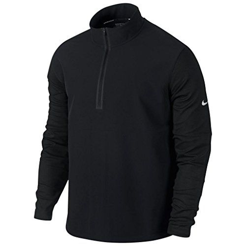 2015 Nike Dri-Fit Laine Tech Protect Cover-Up Demi Fermeture Eclair Hommes Knit Golf Pull