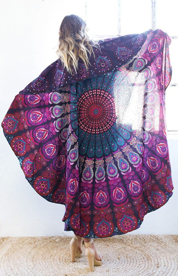 ❘❘❙❙❚❚ ON SALE ❚❚❙❙❘❘   A gorgeous handmade 100% powerloom cotton tablecloth featuring a center Mandala design.. Tablecloth bedspread highlights: