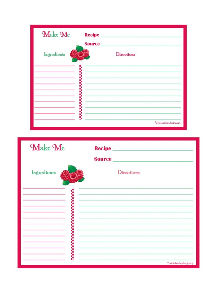 17 best images about printable recipe cards on pinterest recipe binders recipe box and for Printable recipe templates