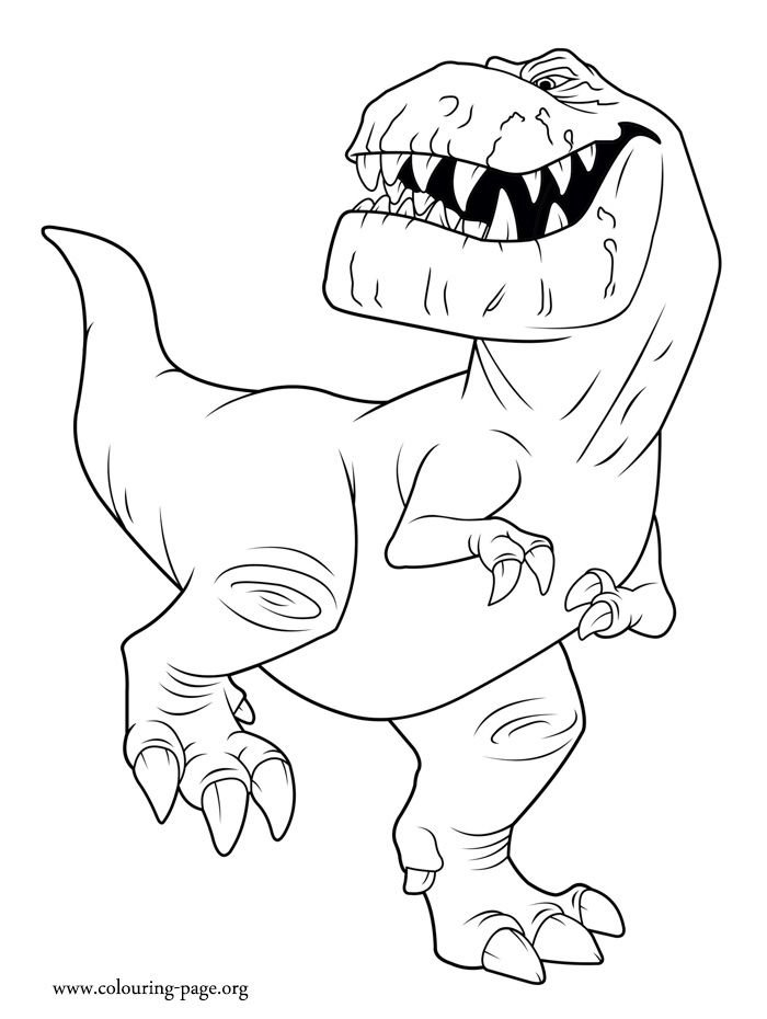 the good dinosaur butch coloring page