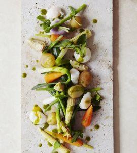 Steamed Spring Veg Chef Daniel Galmiche