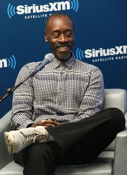 Actor Don Cheadle takes part in SiriusXM's 'Town Hall' with Don Cheadle on SiriusXM's Real Jazz Channel at the SiriusXM studios on March 21, 2016 in New York City.