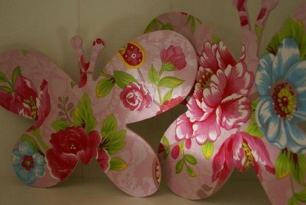 Knutselen   Vlinders met Pip Studio behang. Gemaakt door Fleurig&Kleurig. Door Liinaap